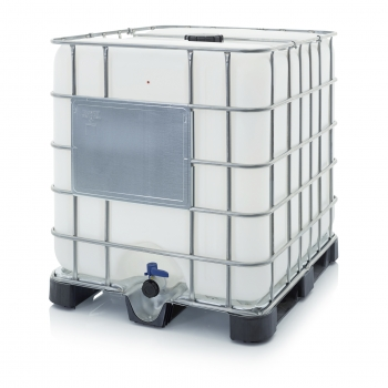 IBC Container mit Kunststoffpalette 120 x 100 x 116 cm